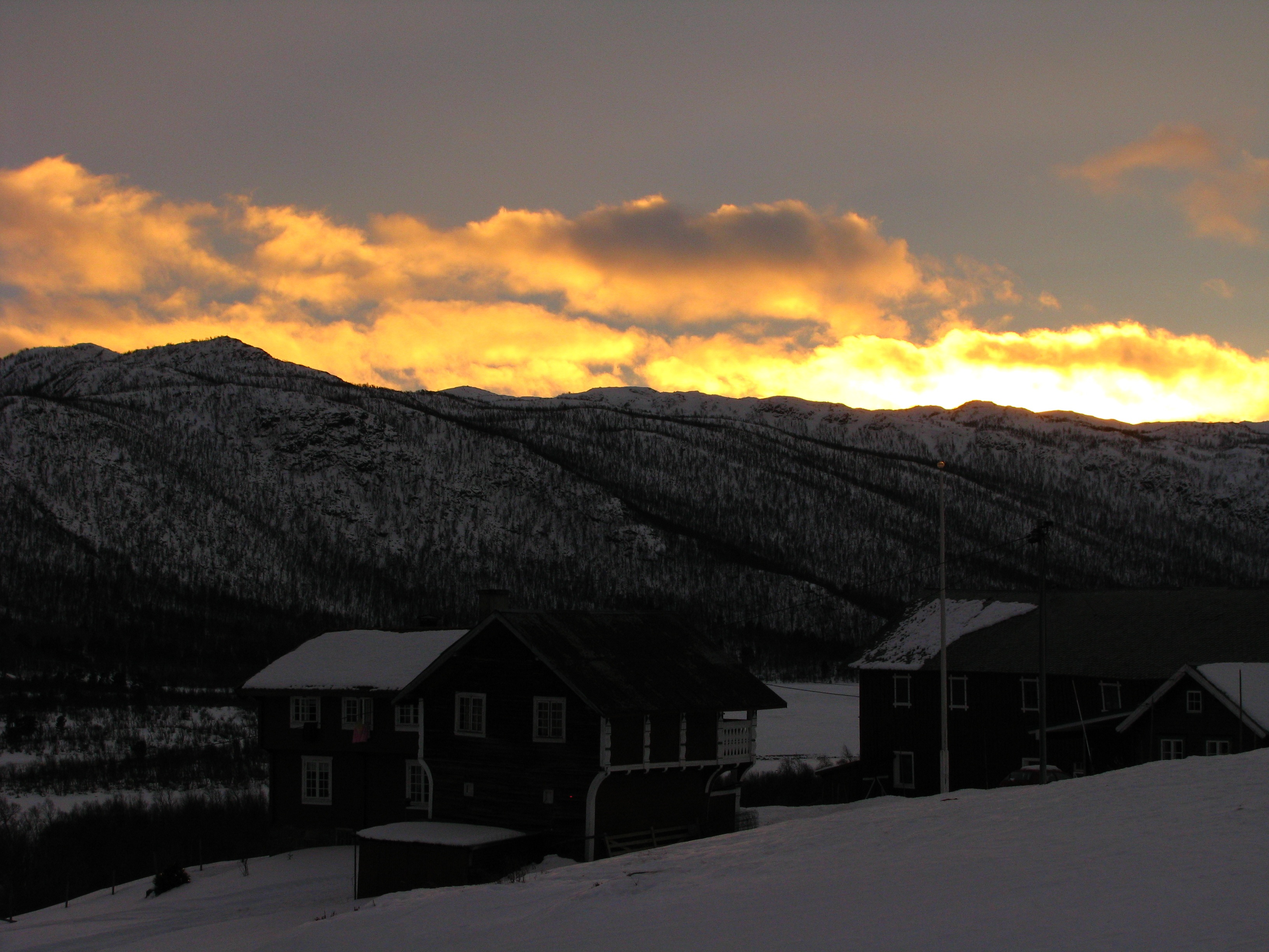 sunset geilo